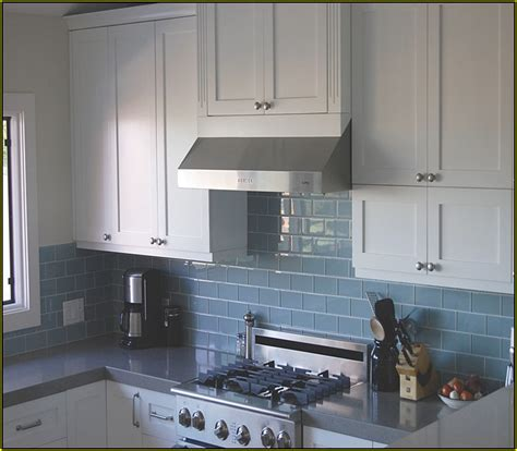 Light Blue Subway Tile Backsplash   Tile Design Ideas