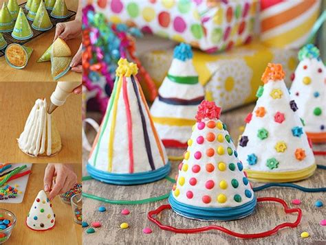 crafting hat cakes   birthday party pictures