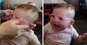 Baby Piper's Priceless Reaction To Seeing Parents Clearly ...