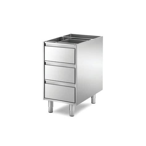 bloc tiroir cuisine meuble boulanger patissier bloc 3 tiroirs longueur 435