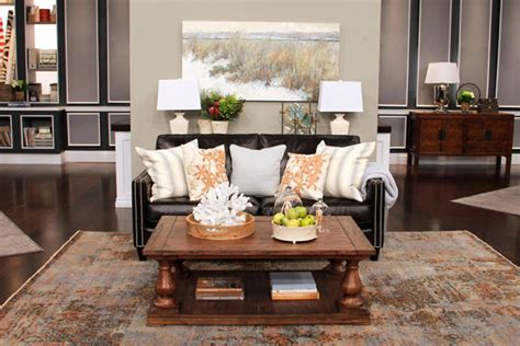 decorating with brown leather couches ideas what to do with a leather sofa steven and chris