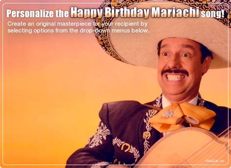 Mariachi Birthday Video Ecard (personalized Lyrics