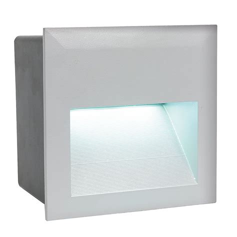 eglo 95235 zimba led silver recessed led wall light