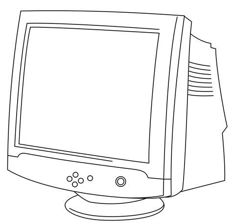 onlinelabels clip art crt monitor   art