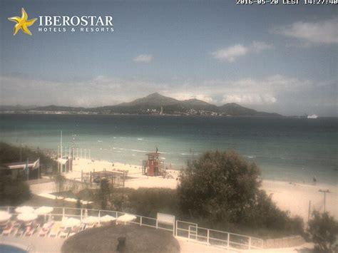 webcam playa de muro majorca seaview