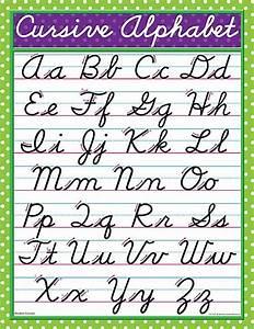 modern cursive chart With cursive letter alphabet chart