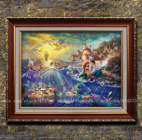 home interiors kinkade prints thomas kinkade prints of oil painting the little mermaid series painting office home decor
