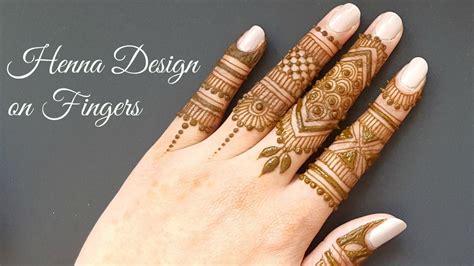 Easy Diy Mehndi Henna Design On Fingers