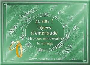 40 ans de mariage noce de mariage carte pour 40 ans de mariage