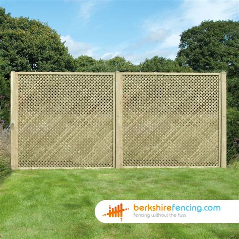 6ft Fence Panels With Trellis by Rectangle Privacy Trellis Fence Panels 3ft X 6ft