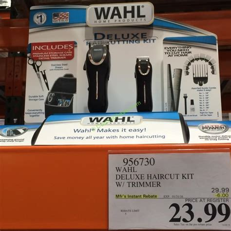 wahl haircut kit wahl deluxe haircut kit with trimmer costcochaser 1994