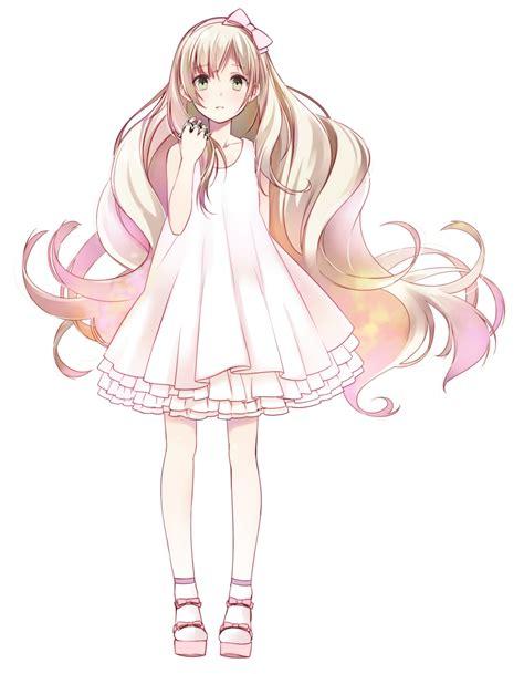Cute Anime Girls with Long Dress