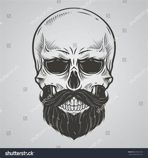 Bearded Skull Illustration Stock Vector 439022335 ...