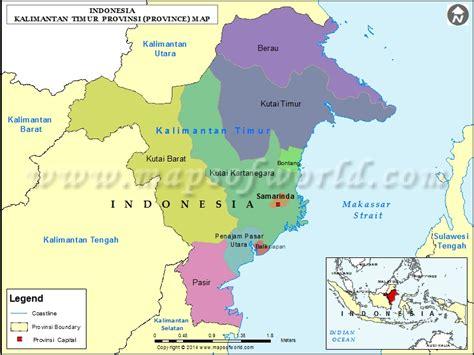 kalimantan timur map map  kalimantan timur province