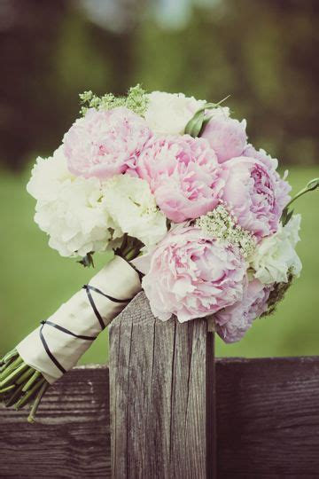 beautiful pink white peony bouquet simply charming