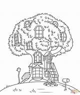 Coloring Tree Funcom Treehouse sketch template