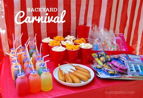 Backyard Carnival Ideas And Decorations  Mami Talks™