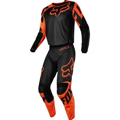 fox motocross gear fox racing 2017 mx new 180 race black orange jersey pants