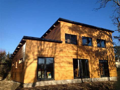 maison bois contemporaine troyes becokit maisons ossature bois