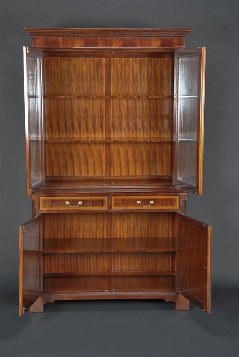 Ebay Antique China Cabinet by High End Mahogany Two Door China Cabinet Ebay