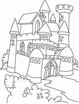 Castle Outline Drawing Coloring Cartoon Getdrawings sketch template