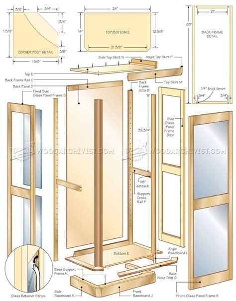 curio cabinet plans cabinet woodworking plans curio