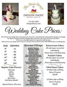 wedding cakes prices wedding cakes the bake shoppe oregon dairy