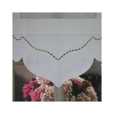 rideau brise bise coton rideau cuisine brise bise blanc largeur 35 cm boutique cosy d 233 co