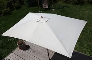 Sonnenschirme Rechteckig 2x3m : holz sonnenschirm florida rechteckig 2x3m creme ebay ~ Frokenaadalensverden.com Haus und Dekorationen