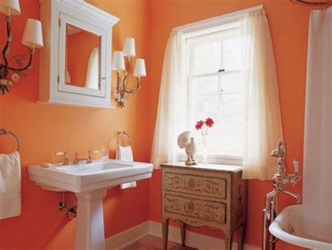 Orange-modern-bathroom-decorating-design