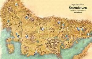 Stormhaven Skyshards Location Map - ESO game-maps com
