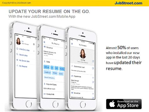 Update Resume Di Jobstreet by Jobstreet Introduces Resume Update On The Go Jobstreet Malaysia