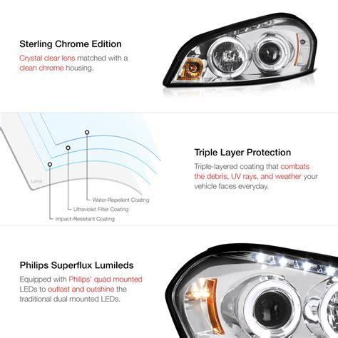 chrome halo eye led projector headlight 06 2013