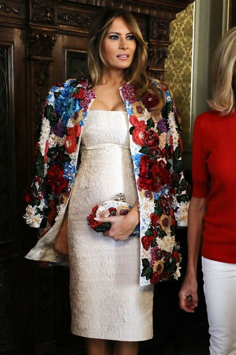 Fashion Notes: Melania Trump Steps Out in Military-Inspired Dolce...
