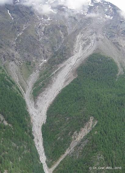 Debris Flow Switzerland Valais Mattertal Inside