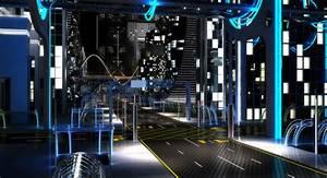 3D night future street city   1148161   TurboSquid