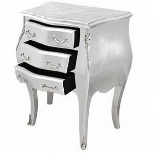 Table De Nuit Baroque : table de nuit chevet commode baroque bois argent ~ Teatrodelosmanantiales.com Idées de Décoration