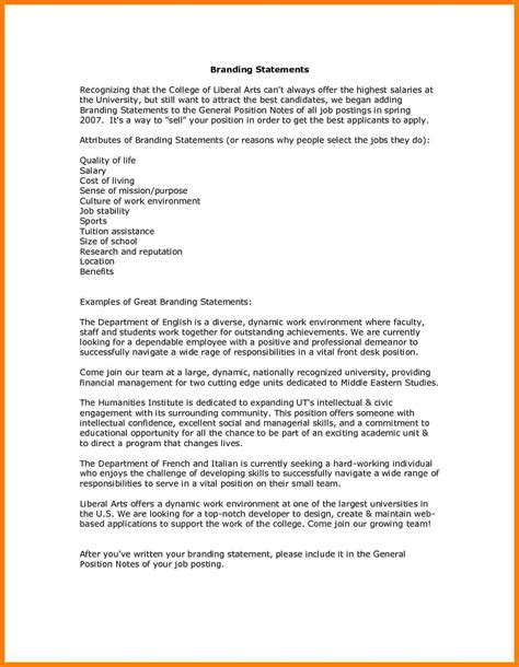 Personal Statement For A Resume by 8 Personal Brand Statement Exles Nanny Resumed