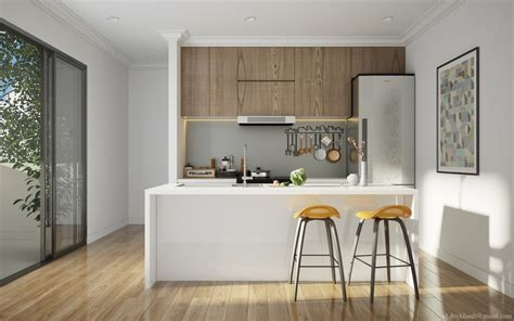 white kitchen and wood ideas for interior