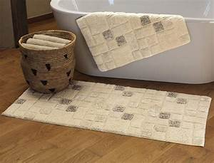 galet With tapis de bain grande taille