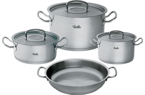 cuisine en batterie de cuisine pots original pro collection batterie de cuisine fissler