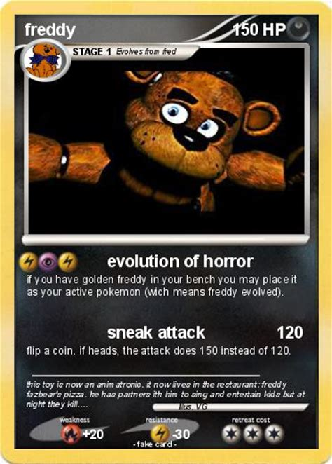 Share the freddy spirit with that special loved one or just spoil a friend. Pokémon freddy 516 516 - evolution of horror - My Pokemon Card