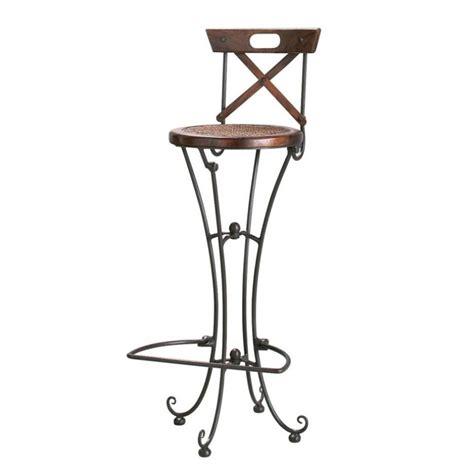 chaise fer et bois chaise de bar en bois de sheesham massif et fer forgé luberon maisons du monde