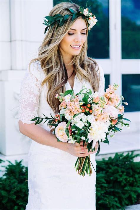 ideas  flower crown wedding  pinterest