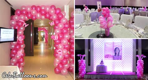Black And Gold 50th Birthday Decorations by Debut 18th Birthday Cebu Balloons And Party Supplies