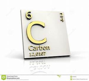 Carbon Form Periodic Table Of Elements Stock Illustration ...