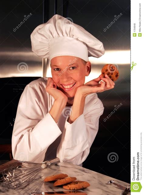 Happy Pastry Chef Stock Photo Image Of Cookies, Chip