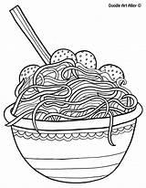 Coloring Spaghetti sketch template