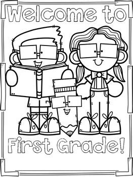 First Day of School Coloring Page Freebie by Stephany