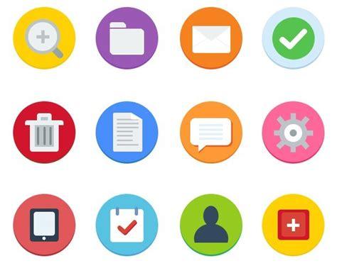 Free 12 Flat Web Icons Psd